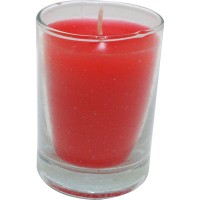 Vaso de luz rojo 6x8,5 cm