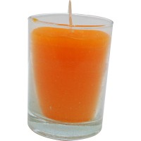 Vaso de luz naranja 6x8,5 cm