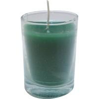 Vaso de luz verde 6x8,5 cm