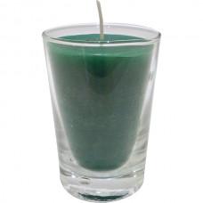 Vaso de luz chico verde 5x7 cm