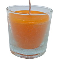Vaso redondo naranja 6,5x6,5 cm