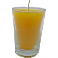 Vaso de luz chico amarillo 5x7 cm