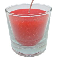 Vaso redondo rojo 6,5x6,5 cm