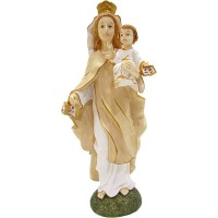 VIRGEN DE LA MERCED(DECORADA 19 CM)