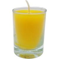 Vaso de luz amarillo 6x8,5 cm